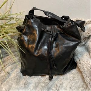 Stone Mountain Leather Bucket Bag